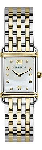 Michel Herbelin Unisex Erwachsene Analog Uhr mit Edelstahl Armband 17478/T59B