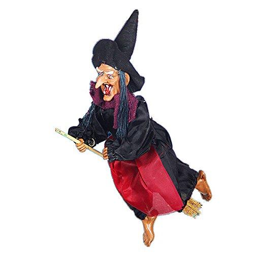 gend Hexen hängende Figur Hexen mit Licht und Sound für Halloween Dekoration (Farbe zufällig) (Hängende Hexe Dekoration)