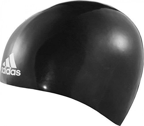adidas Unisex- Erwachsene Silicone 3D Cap Badekappen für Schwimmer, Black, L