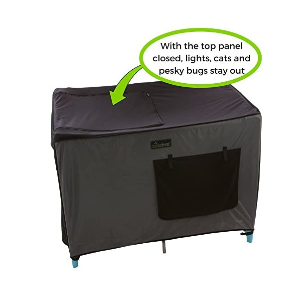 SnoozeShade Portable Blackout Blind and Canopy for Travel Cots SnoozeShade Sharing a room with your baby? There's no need to creep around in the dark (we've all done it). Let SnoozeShade make it easy. Keep the lights on without worrying about waking your little one. Invented by a British mum, it creates a comfortable darkened environment to help babies switch off and sleep in strange surroundings. Great for hotels, family visits, camping or any time you need baby to nap in the travel cot. So simple to use and easy to travel with. Just pop it over the travel cot, attach the bottom straps and you're done! Lightweight and no complicated attachments. 8
