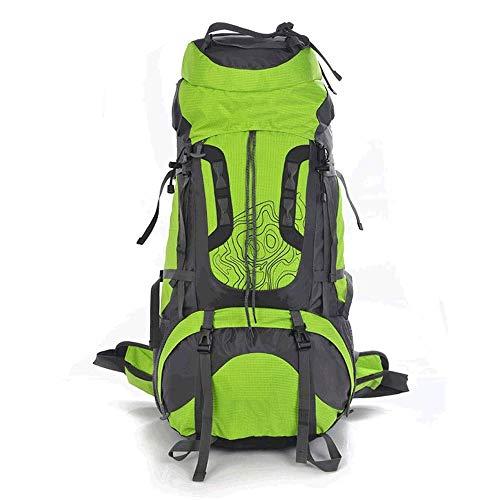 ZCbb Rucksack Wasserabweisender Wanderrucksack Reiserucksack 80L Rucksack Tasche mit Kopfhöreranschluss zum Klettern Camping Woman Rucksack Abnehmbarer Rucksack (Color : Green) -