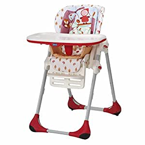 Chicco New Polly 2 in 1 Highchair Happy Land (Red)
