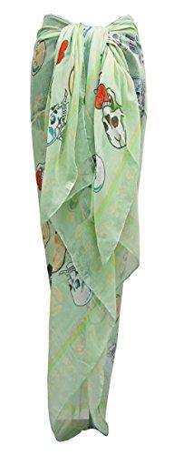 Damen Damen große superweiche Designer inspiriert Schädel Sarong, Vertuschung (Designer-ostern-kleider)