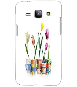 PrintDhaba Flowers D-2108 Back Case Cover for SAMSUNG GALAXY J1 (Multi-Coloured)