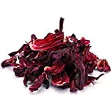 Fleurs d'Hibiscus BIO 1 kg biologiques, qualité supérieure, séchées aux soleil (pas lyophilise), naturelle pure de fleurs, cru, sans additifs 1000g