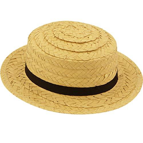 Kostüm Strohhut Farmer - German Trendseller® Stroh Hut - Deluxe -┃ mit Band ┃ Sonnenhut - Urlaub ┃ Beach ┃ Strand ┃ Sonnenhut aus Stroh