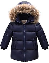 Zoerea Giubbotti Piumino Bambino Inverno Caldo Bambini Addensare Outfit  Piumino con Cappuccio e01e7a23503