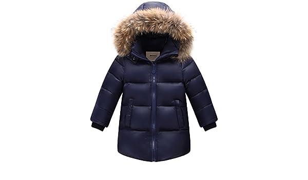 ZOEREA Veste dhiver Veste en Duvet pour Enfant avec Fellkapuze Manteau en Duvet Chaud Hiver pour Jeunes Filles
