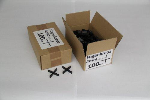 Preisvergleich Produktbild Fugenkreuze 4mm, Bauhöhe 10mm, 100 Stück im Karton