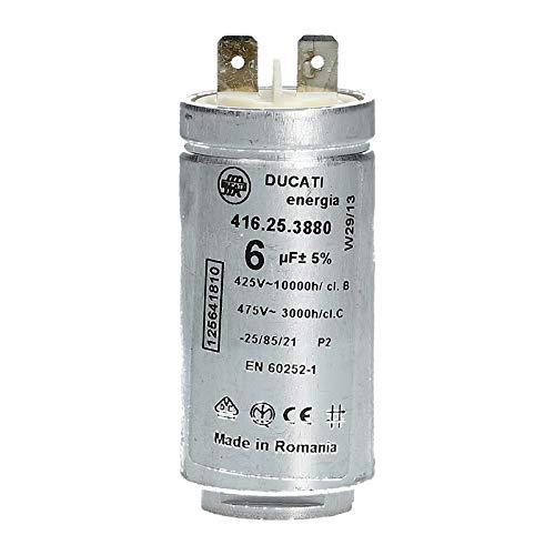 Avviamento motore condensatore 6µF uF 425/475V per asciugatrice Electrolux AEG 125641810125641810/2Zanker Zanussi Arthurmartin