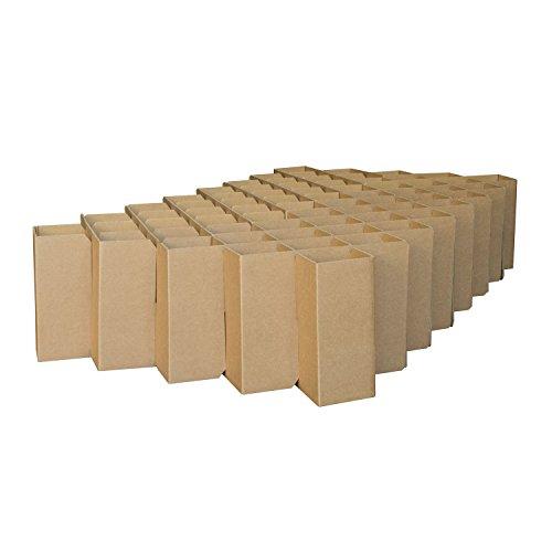 ROOM IN A BOX | Bett 2.0 S/N: Nachhaltiges Klappbett aus Wellpappe in der Größe 90 x 200 cm und alle Zwischengrößen. Ideal auch als praktisches Gästebett, da leicht verstaubar und ein Lattenrost nicht benötigt wird.