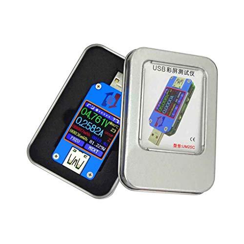 UM25C/UM25 - Medidor de tensión y tensión de tensión (USB 2.0, tipo bluetooth, color LCD, voltímetro, medidor de impedancia)