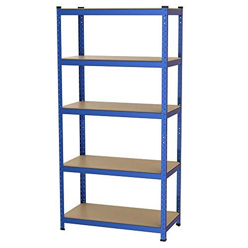 *Yaheetech Schwerlastregal 180 x 90 x 45 cm | Steckregal 1325kg | blau pulverbeschichtet | Lagerregal Metallregal Kellerregal*