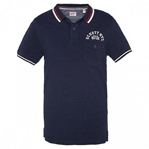 Schott NYC -  Polo  - Uomo blu XX-Large