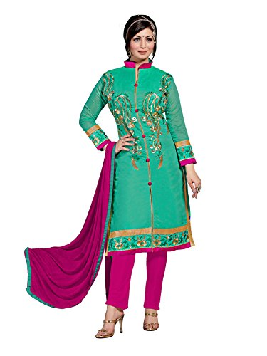 Blissta Chanderi Embroidered salwar suit Dress Material ( wedding suits for women )(Diwali special 2017