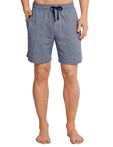 Schiesser Herren Bermuda Schlafanzughose, Blau (Dunkelblau-Mel. 818), Medium (Herstellergröße: 050)