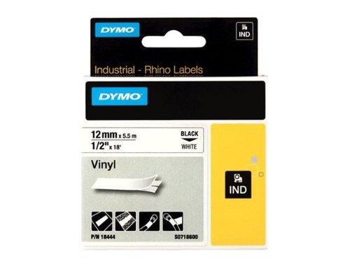 DYMO RhinoPRO Coloured Vinyl - Vinyl - permanenter Klebstoff - weiß - Rolle (1,2 cm x 5,5 m) 1 Rolle(n) Band - für Rhino 4200, 6000, 6000 Hard Case Kit; RhinoPRO 5000, 5000 Hard Case Kit