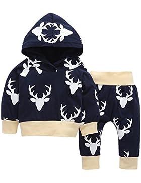 Babykleidung,GUT® Schwarz 2pcs Kleinkind Baby Junge Mädchen Kleidung Set Hoodie Tops + Pants Outfits