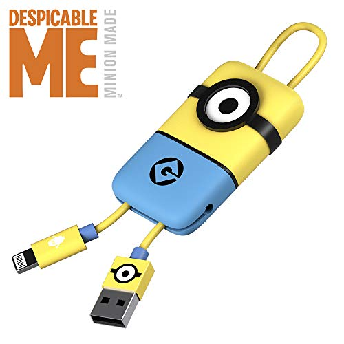 Tribe Minions - Cable USB Lightning para iPhone (Apple MFi Certificado), 22 cm