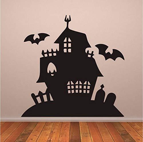 Mansion Halloween Tapete Abnehmbare Aufkleber Wohnzimmer Kunst Dekor Vinyl Wandaufkleber Kinderzimmer 57X57 cm ()