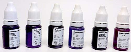 DIABOLO GENESIS Farbset 09 VIOLETT Töne 6x10ml - deutsche Tattoofarbe mit Zertifikat - INKgrafiX® IG05731 Tattoo INK Lila