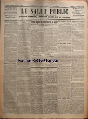 SALUT PUBLIC (LE) [No 256] du 13/09/1919 - SYMPATHIES TCHECO-SLOVAQUES - AU JOUR LE JOUR- ADIEU A LA VIE CHERE PAR CHABLY - AUTOUR DU TRAITE - POUR REGLER LA QUESTION DE LA SYRIE - PROCHAINE ENTREVUE DE MM LIOYD GEORGE CLEMENCEAU ET DU GENERAL ALLENBY - LES DESORDRES EN IRLANDE - LA SITUATION - LE CHARBON BELGE - LE CARTEL ALLEMAND DE L'ACIER - LE MARCHE MONDIAL DE LA VIANDE - L'EXODE DE NOTRE MONNAIE - QUELQUES VERITES A REPANDRE