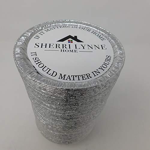 Sherri Lynne Home Einweg 12,7cm Aluminium Folie Tart/Pie/Quiche Pfannen 50 Pack aluminiumfarben