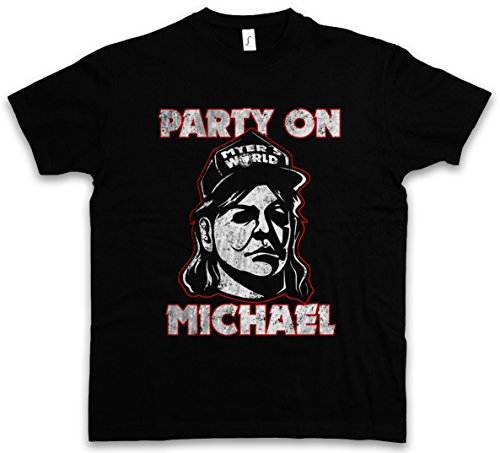 Urban Backwoods Party On Michael T-Shirt – Taglie S – 5XL Nero