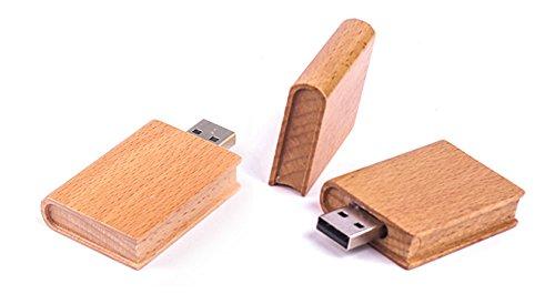 Libro in ligno 8 gb - book wood - chiavetta pendrive - memoria archiviazione dei dati - usb flash pen drive memory stick - marrone