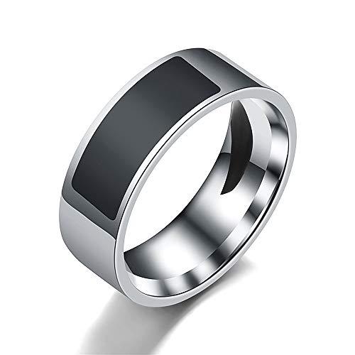 Tabanlly Fingerring für Android Windows NFC Smart-Ring, wasserdicht, mehrere Größen, Schwarz, 11