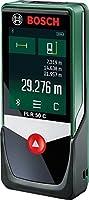Bosch DIY Digitaler Laser-Entfernungsmesser PLR 50 C , Connectivity Funktion, 3 x AAA Batterien, Handschlaufe, Schutztasche, Karton, (50 Meter Messweite)