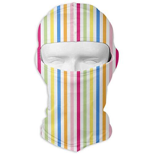 Sherpa Winter Liner (Sdltkhy Colorful Stripe Winter Ski Mask Balaclava Hood - Wind-Resistant Face Mask Design5)