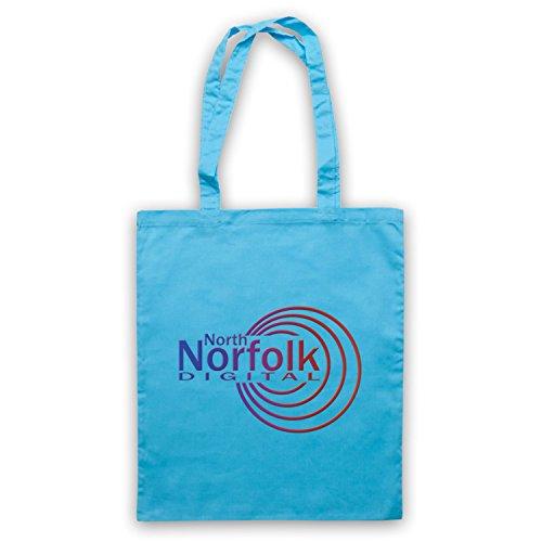 Inspiriert durch Alan Partridge North Norfolk Digital Radio Station Logo Inoffiziell Umhangetaschen Hellblau