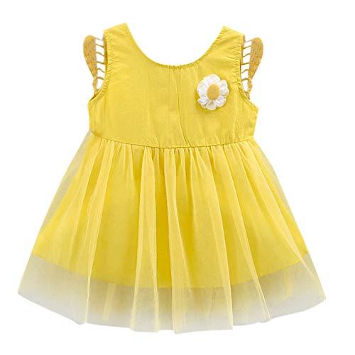 Mitlfuny Maedchen Audrey 1950er Vintage Hepburn Kleid Prinzessin Ballett Tutu Rock Party,Kleinkind Kind Baby Mädchen 3D Floral Flügel Tüll Party Prinzessin Kleid Kleidung