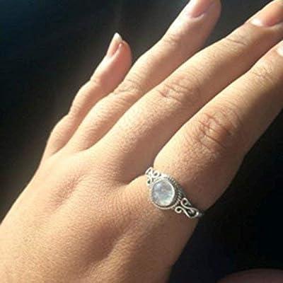 Rainbow Moonstone Silver Ring, Pierre de lune arc-en-ciel, bague Moonstone, argent sterling 925, bague en argent, bijoux faits à la main, taille 44 à 68 FR