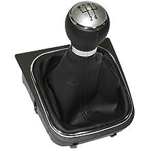 AERZETIX: Pomo, funda y marco para palanca de cambios 5 velocidades para coche, vehiculos
