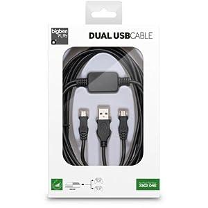 Xbox One – Y-Ladekabel (USB/Micro USB) 3m [black]