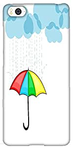 Snoogg Abstract Rainy Season Background with Clouds Hard Back Case Cover Shield for Xiaomi Mi4i/Mi4I
