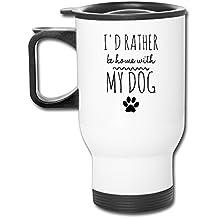 DH et GF I D Rather Be Maison avec My Dog Funny Café Mug isotherme Cool Tasses