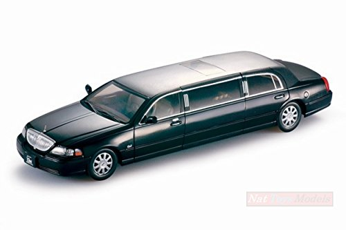 2003 Town Lincoln Car (NEW SUNSTAR SS4202 LINCOLN TOWN CAR LIMOUSINE 2003 BLACK 1:18 MODELLINO DIE CAST)