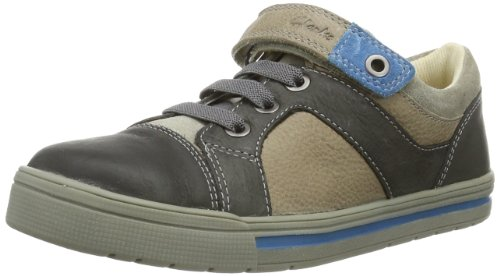 Clarks Boy's Beven Time Grey Leather Sports Shoes - 5...