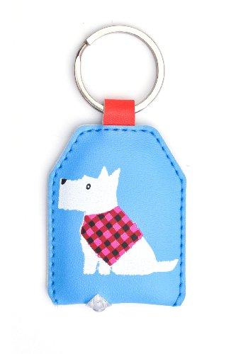 WPL Scottie weißen Hund Tastaturbeleuchtung - Schlüsselanhänger mit integrierten LED-Taschenlampe - Geschenk Idee -