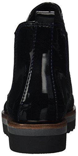 Marco Tozzi Damen 25406 Chelsea Boots Blau (navy Str.pat.)