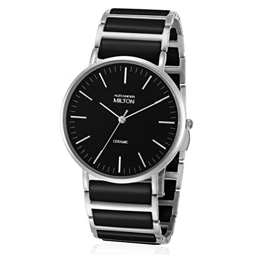 ALEXANDER MILTON - montre homme - CERES, noir/argente