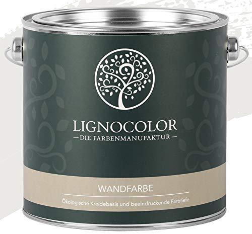 Lignocolor Wandfarbe Innenfarbe Deckenfarbe Kreidefarbe edelmatt 2,5 L (Dove Grey)