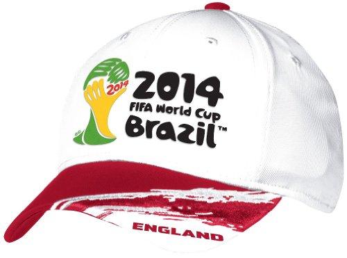 England Adidas 2014 FIFA World Cup Structured Flex Hat Hut - White -
