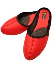 Weri Spezials Femmes Classique Pantoufles Rouge