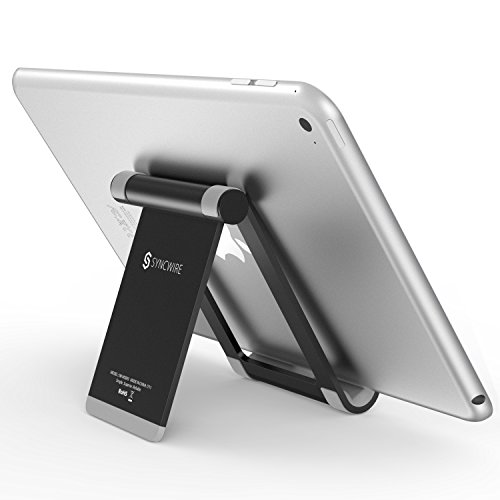 porta tablet Syncwire Supporto Tablet Porta iPad iPhone - Regolabile 360-Gradi Supporto da Tavolo Portatile per iPad PRO Air Mini