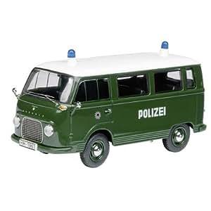 """SCHUCO 03207 - Ford FK 1000 Bus """"Polizei Hamburg"""", 1:43"""