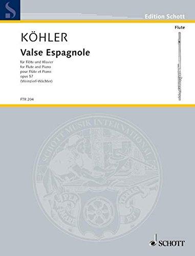 Valse espagnole Opus 57 - Flûte et Piano